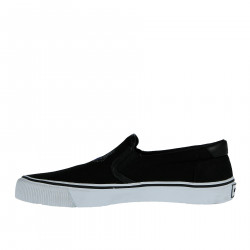 BLACK SLIP ON WITH BRAND LOGO