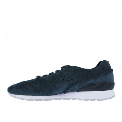 BLUE PERFORATED SUEDE SNEAKER