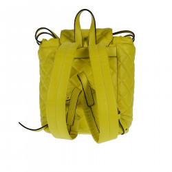 YELLOW QUILTED LEATHER BACKPACK