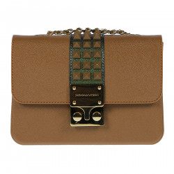 BROWN SHOULDERBAG WITH STUDS