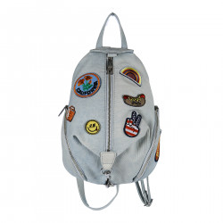 JEANS BACKPACK WITH PATCH