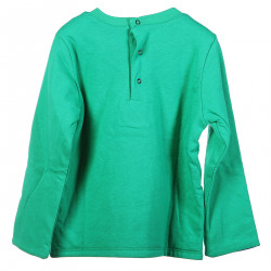 GREEN SWEATSHIRT WITH PINTED BRAND