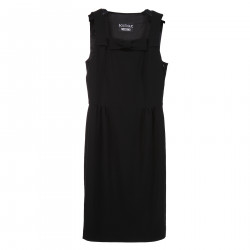 BLACK SLEEVELESS DRESS WITH BOW
