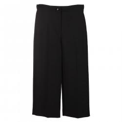 DOUBLE CREPE BLACK PANTS