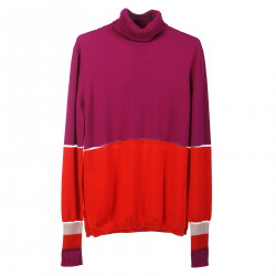 PINK AND ORANGE LONG SLEEVES SHIRT WITH TRASPARENCIES