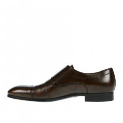 BROWN LEATHER MONK STRAP