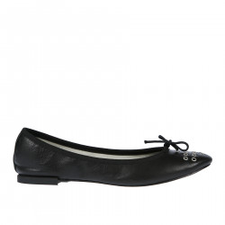 PERFORED LEATHER FLAT SHOE