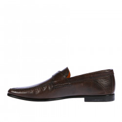 BROWN LEATHER MOCASSIN