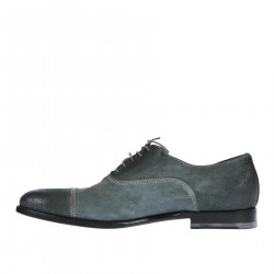 SHADED BLUE SUEDE LACE UP