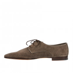 BROWN SUEDE LACE UP SHOE