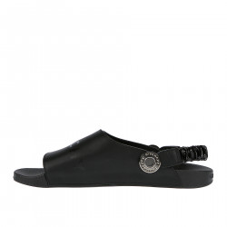 BLACK SLIDE STRAP SANDAL