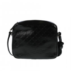 BLACK LEATHER SHOULDERBAG