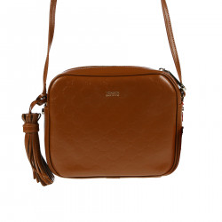 BROWN  LEATHER SHOULDER STRAP