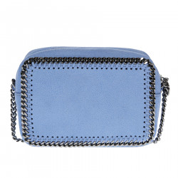 LIGHT BLUE SHOULDERBAG WITH CHAINS