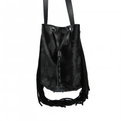 BLACK PONY BUCKET BAG