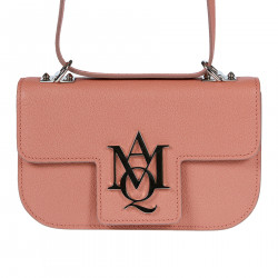 PINK LEATHER SHOULDERBAG