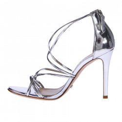 SILVER CRISS CROSSED SANDAL