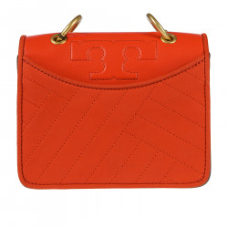 ORANGE LEATHER SHOULDERBAG