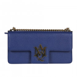 BLUE LEATHER SHOULDERBAG