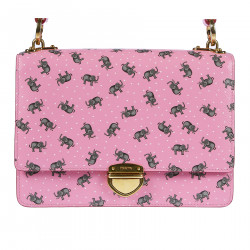 PINK SHOULERBAG ELEPHANTS FANTASY