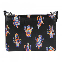 BLACK SHOULDERBAG ROBOT FANTASY