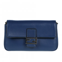 BLUE LEATHER POCHETTE