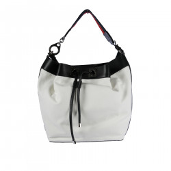 WHITE BACKPACK WITH REMOVABLE HANDLE