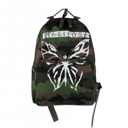 MILITARY BACKPACK BUTTERFLY PRINT