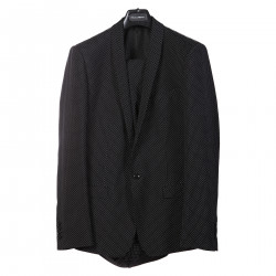 BLACK SUIT WITH WHITE POIS