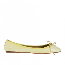 YELLOW LEATHER FLAT SHOE