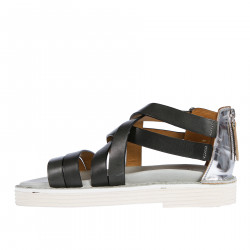 TWISTED SANDAL WITH BUCKLE