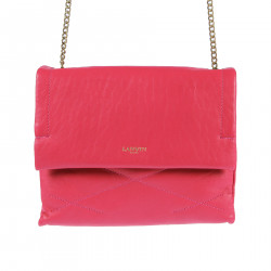 FUXIA LEATHER SHOULDERBAG