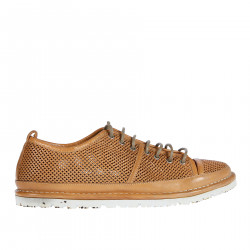 LEATHER PERFORED SNEAKER