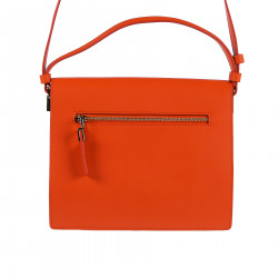 INTENSE RED LEATHER SHOULDERBAG