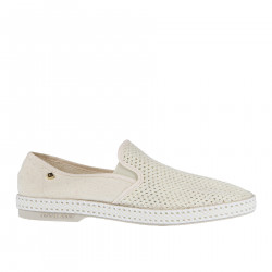 IVORY FABRIC SLIP ON
