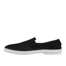 BLACK FABRIC SLIP ON
