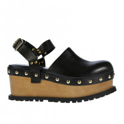 LEATHER HIGH SANDAL WITH STUDS