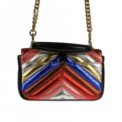 MULTICOLOR LEATHER POCHETTE