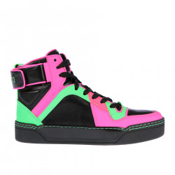 HIGH SNEAKER WITH FLUO PROFILE