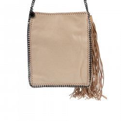 LIGHT PINK SUEDE SHOULDERBAG