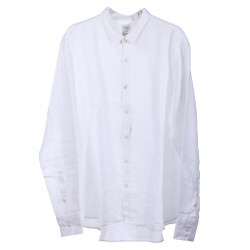 WHITE SOFT SHIRT WITH CLASSIC COLLAR