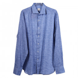 BLUE JEANS SHIRT WITH CLASSIC COLLAR