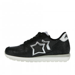 BLACK SUEDE SNEAKER WITH LUREX