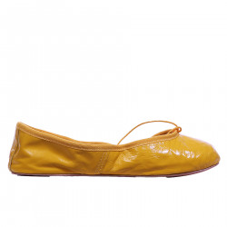 YELLOW LEATHER BALLET FLAT