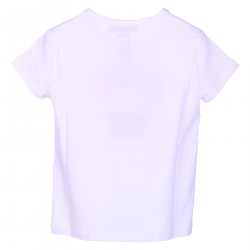 WHITE T SHIRT WITH FRONTAL PRINT