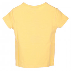 YELLOW T SHIRT WITH GREEN CHROME LOGO