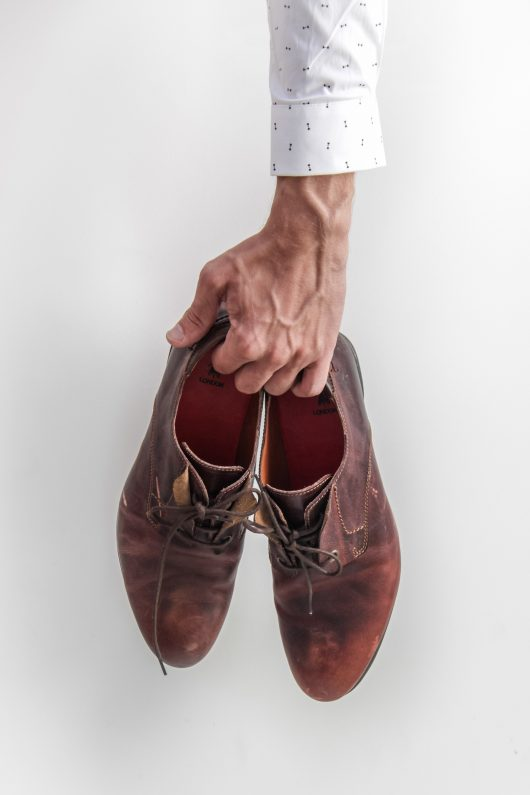 Leather lace-up shoes on sale