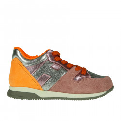 HIGH PINK AND ORANGE PHOSPHORESCENT SNEAKERS