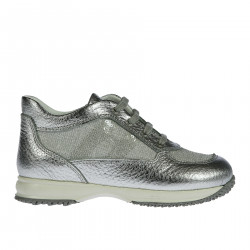 HIGH GLITTERED SILVER SNEAKERS