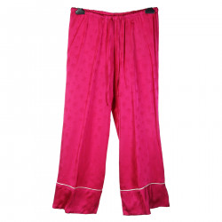FUCSIA PANTS WITH FLOWER